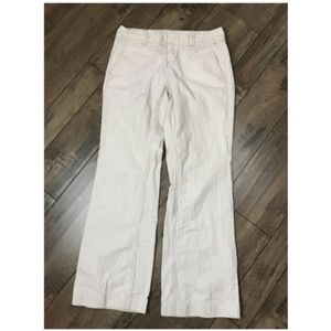 TOMMY HILFIGER Pants Stripes Beige Brown Trousers